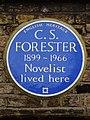 C. S. FORESTER 1899-1966 Novelist lived here.jpg
