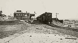 CGR 2nd Class (4-4-0T) of 1882 (Wynberg Tank) at Seapoint Station.jpg