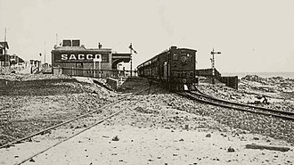 CGR 2nd Class 4-4-0T - Image: CGR 2nd Class (4 4 0T) of 1882 (Wynberg Tank) at Seapoint Station
