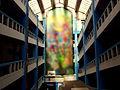 CICLOP Building (Bucharest) interior with artwork blurred.jpg
