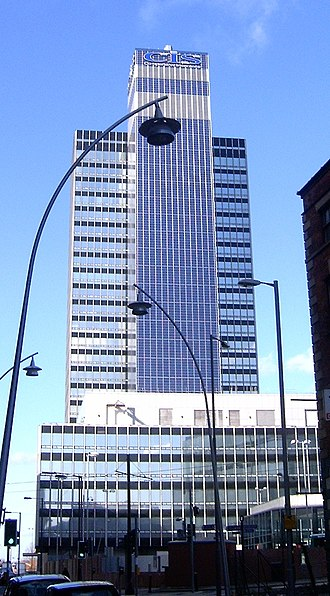 Building-integrated photovoltaics - The CIS Tower in Manchester, England was clad in PV panels at a cost of £5.5 million. It started feeding electricity to the National Grid in November 2005.