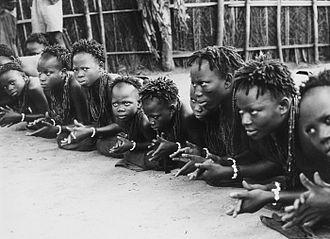 Music of Benin - Dance of greeting, Benin, taken before 1969