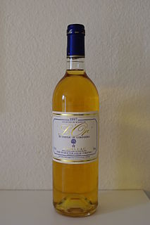 Cadillac AOC Bordeaux wine from the Entre Deux Mers subregion