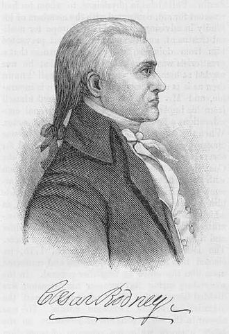 Caesar Rodney - 20th-century image; no contemporary portrait exists.