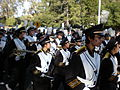 Cal Band en route to Memorial Stadium for 2008 Big Game 20.JPG