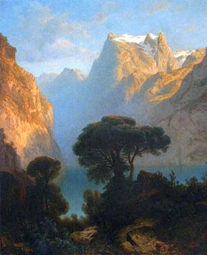 Alexandre Calame - The Lake of the four Cantons, c. 1850, National Museum, Warsaw