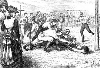 Rugby union in India - Europeans playing rugby in Calcutta in 1875