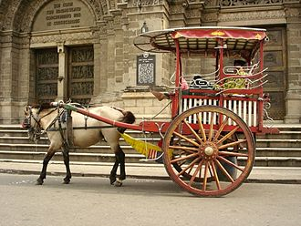 Culture of the Philippines - Kalesa, a traditional Philippine urban transportation