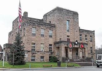 Grantsville, West Virginia - The Calhoun County Courthouse in Grantsville