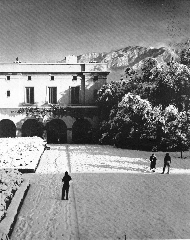 Caltech snow 1949