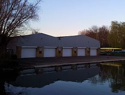 Cambridge boathouses - Selwyn, Churchill & King's.jpg