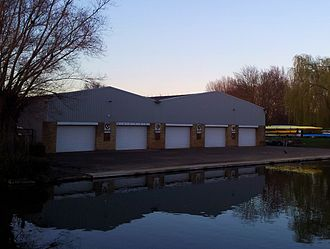Churchill College Boat Club - Image: Cambridge boathouses Selwyn, Churchill & King's