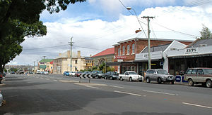 Campbell Town, Tasmania - Main road in centre of Campbell Town, opposite rest area