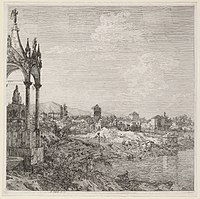 Canaletto, View of a Town with a Bishop's Tomb, c. 1740, NGA 119769.jpg