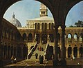 Canaletto (Venice 1697-Venice 1768) - Capriccio View of the Courtyard of the Palazzo Ducale with the Scala dei Giganti - RCIN 406012 - Royal Collection.jpg