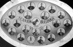 Canton Bulldogs - The Canton Bulldogs players depicted in 1922, first NFL championship.