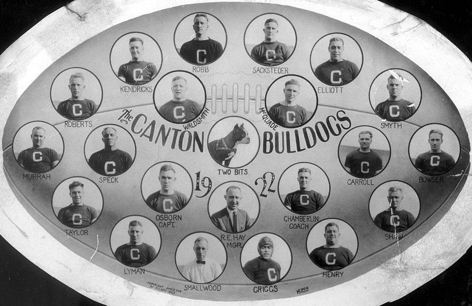 Canton bulldogs 1922 team
