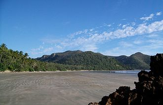 Cape Hillsborough National Park - View across the beach front and bay at Cape Hillsborough National Park