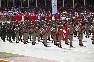 Military organization structuring of the armed forces of a state