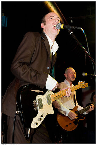 Mick Jones (The Clash guitarist) - Jones playing his Fender Thinline Telecaster at Carbon Casino VI