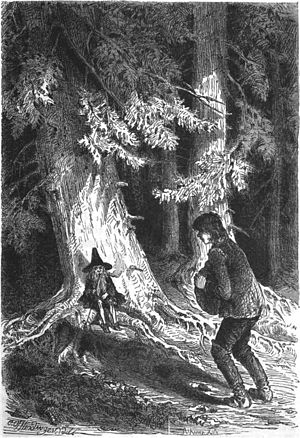 Heart of Stone (German fairy tale) - Peter Marmot summoning the glass-imp
