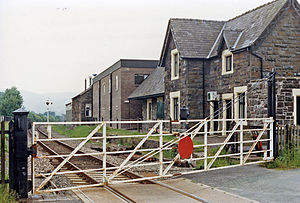 Carno - The former railway station in 1986