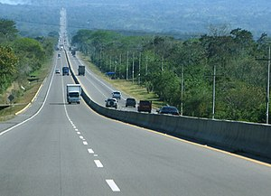 Transport in Honduras - A highway in Honduras.