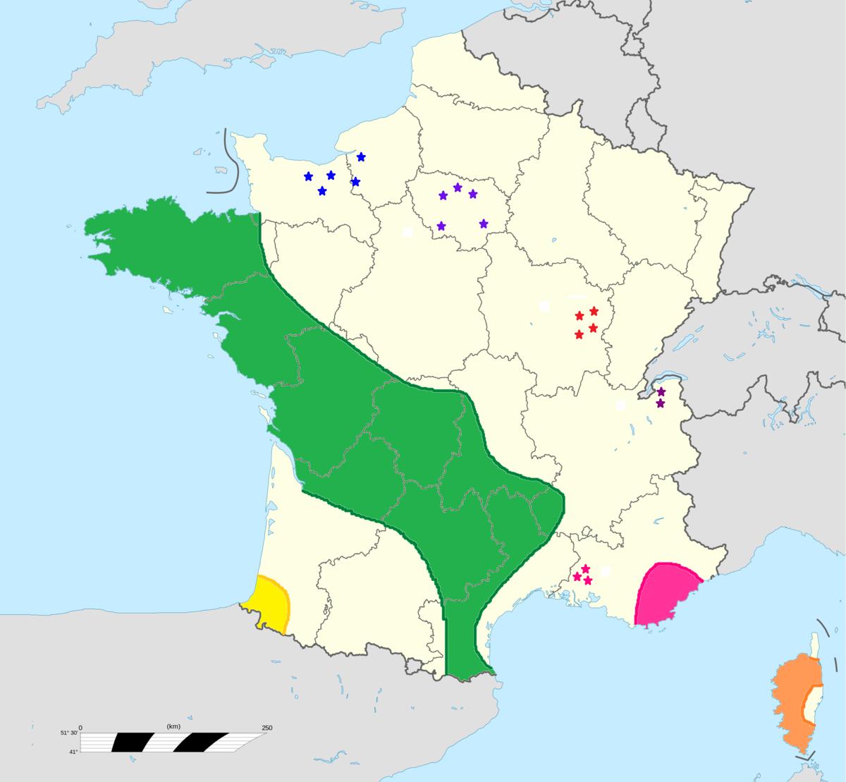 carte france tourisme vert