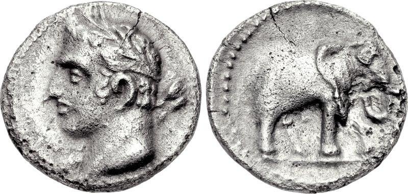 Carthage, quarter shekel, 237-209 BC, SNG BM Spain 102