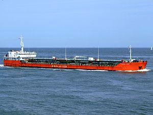 Caspian Leader IMO9235684 p3 approaching Port of Rotterdam, Holland 08-Jul-2007.jpg
