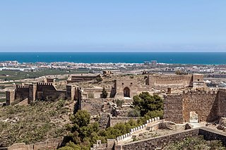 fortress overlooking the town of Sagunto, near Valencia in Spain