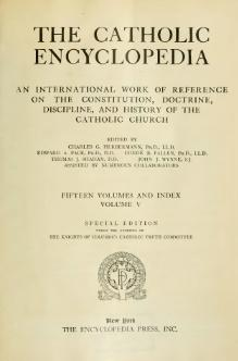 Catholic Encyclopedia, volume 5.djvu
