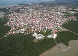 Aerial view of Cayenne