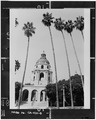 Center arcade and tower in rear - Pasadena City Hall, 100 North Garfield Avenue, Pasadena, Los Angeles County, CA HABS CAL,19-PASA,2-8.tif