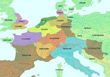 carte europe 5eme siecle