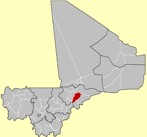 Location of the Cercle of Bandiagara in Mali