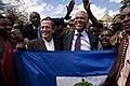 Ceremonia de colocación de ofrenda floral por parte del Presidente de Haití Michel Martelly (7553140648).jpg
