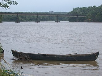 Kasaragod district - Chandragiri bridge which connects Kasaragod town to Chemnad Panchayath.