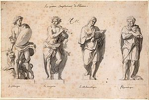 Four temperaments - Choleric, sanguine, melancholic, and phlegmatic temperaments: 17c., part of the Grande Commande