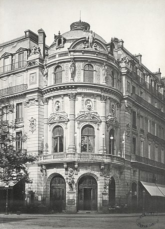Théâtre du Vaudeville - Théâtre du Vaudeville ca. 1853–70 by Charles Marville