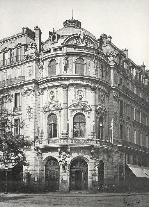 Charles Marville, Théâtre du Vaudeville, ca. 1853–70