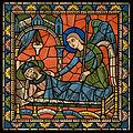 Chartres VITRAIL DE LA VIE DE JÉSUS-CHRIST Motiv 21 Joseph averti en songe par un ange.jpg