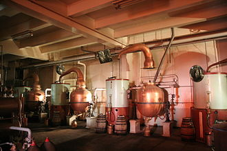 Chartreuse (liqueur) - Old style pot stills no longer in regular use, having been replaced by stainless steel stills
