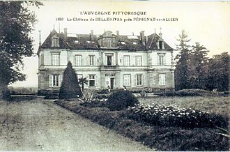 George Onslow (composer) - Château de Bellerive, Perignat (demolished 1990), on an old postcard