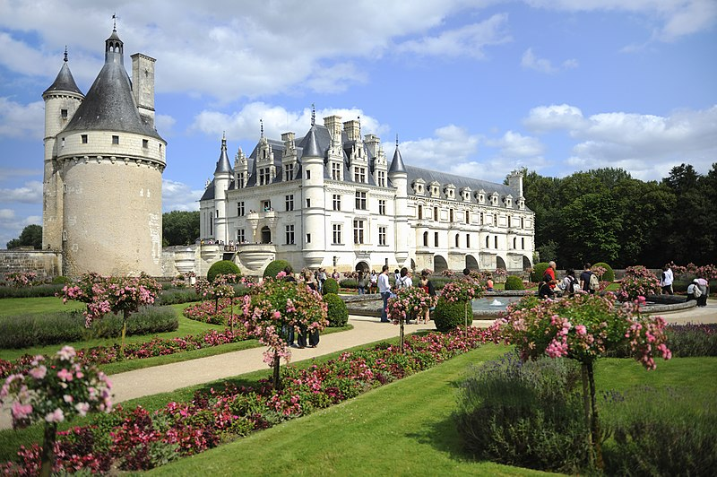 File chateau de chenonceau jardins de catherine de medicis for Le jardin de catherien