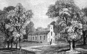 Jane Austen - Steventon Church, as depicted in A Memoir of Jane Austen