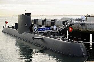 Type 214 submarine - NRP ''Tridente'' (S161) in 2010