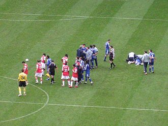 2007 Football League Cup Final - Fracas between the Arsenal and Chelsea players