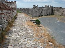 Cammino di ronda della fortezza di Yedikule, Istanbul, Turchia