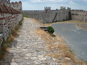 Chemin de ronde - The chemin de ronde of the Yedikule Fortress, Istanbul, Turkey.